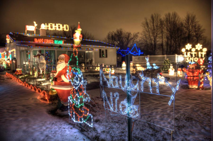 Christmas Lights On Rahway Road In Gates, New York Near Rochester